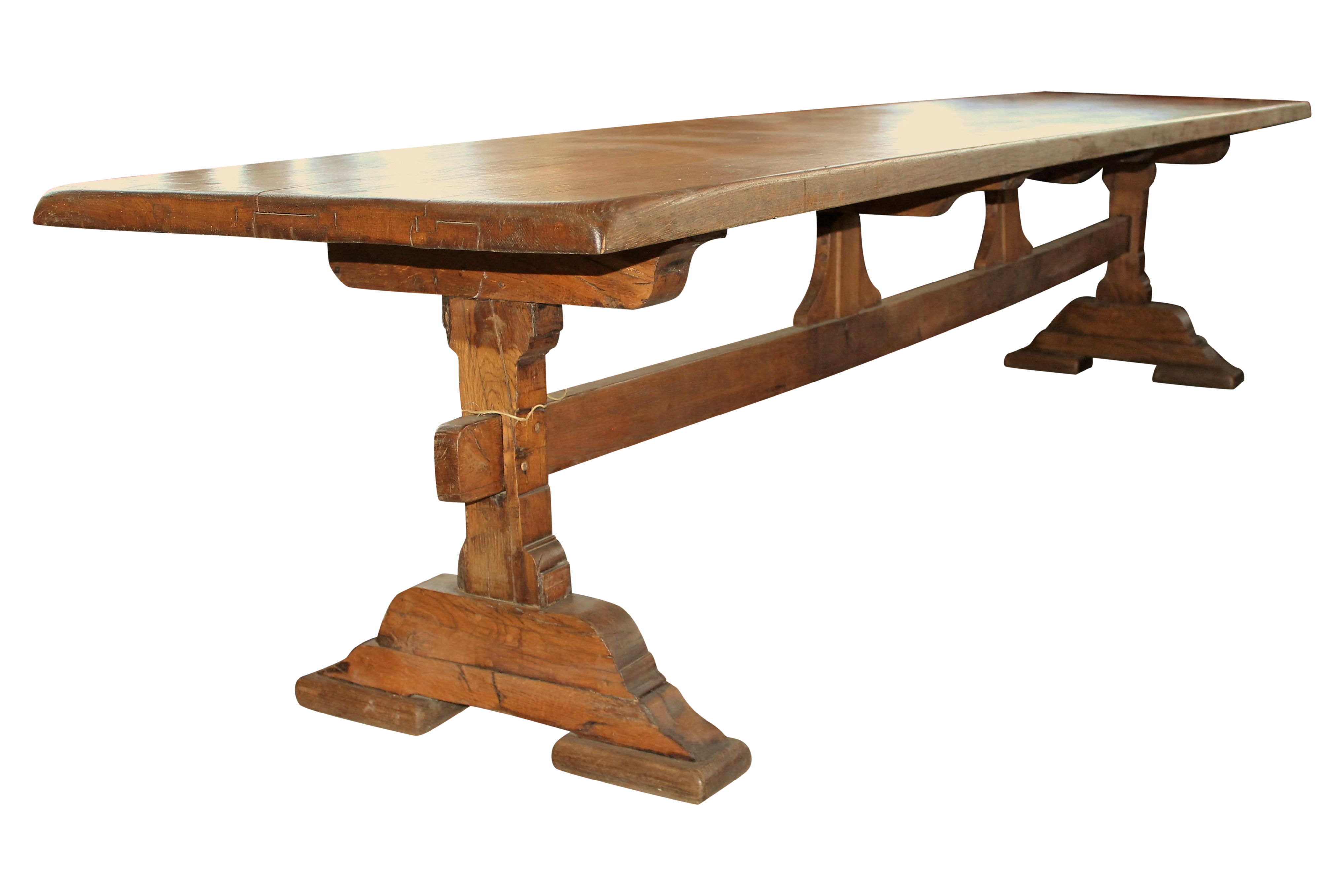 This French antique farmhouse dining table measures almost ...