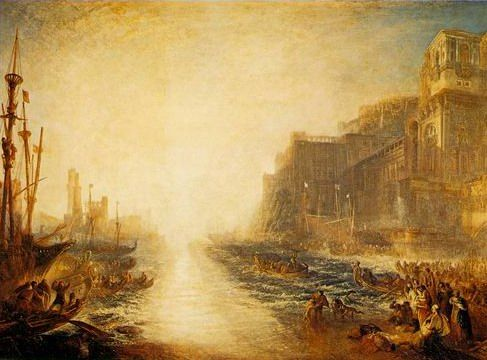 JW Turner's painting of epic sunset
