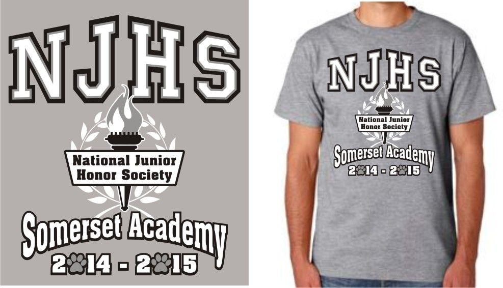 NJHS tshirt for Somerset Academy Clothing logo, T shirt