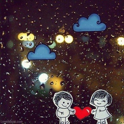Cartoon Image Cartoon Images Of Love Couple In Rain