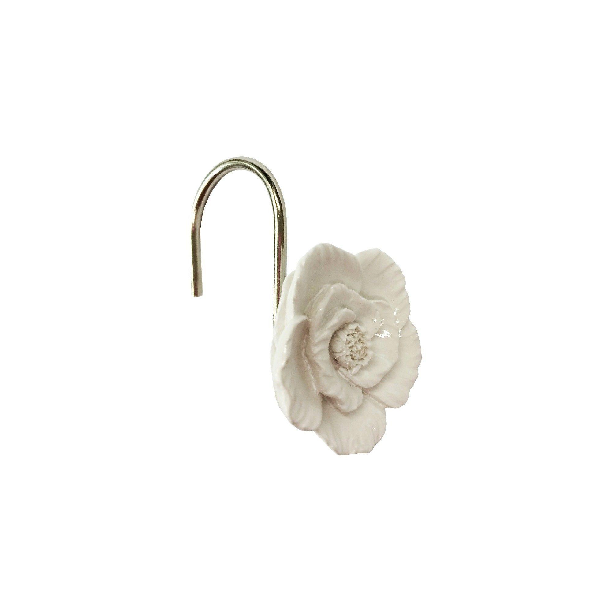 Botanical Shower Hooks White Threshold Shower Curtain Hooks