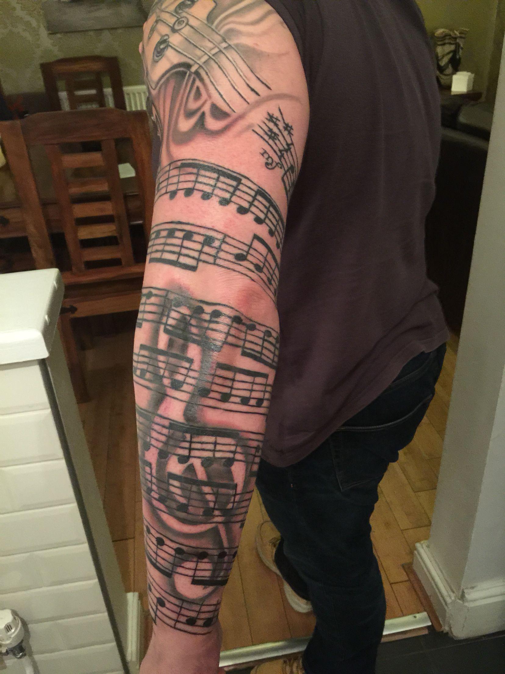 Further Work On My Sleeve Tattoo Pinterest Music Tattoo