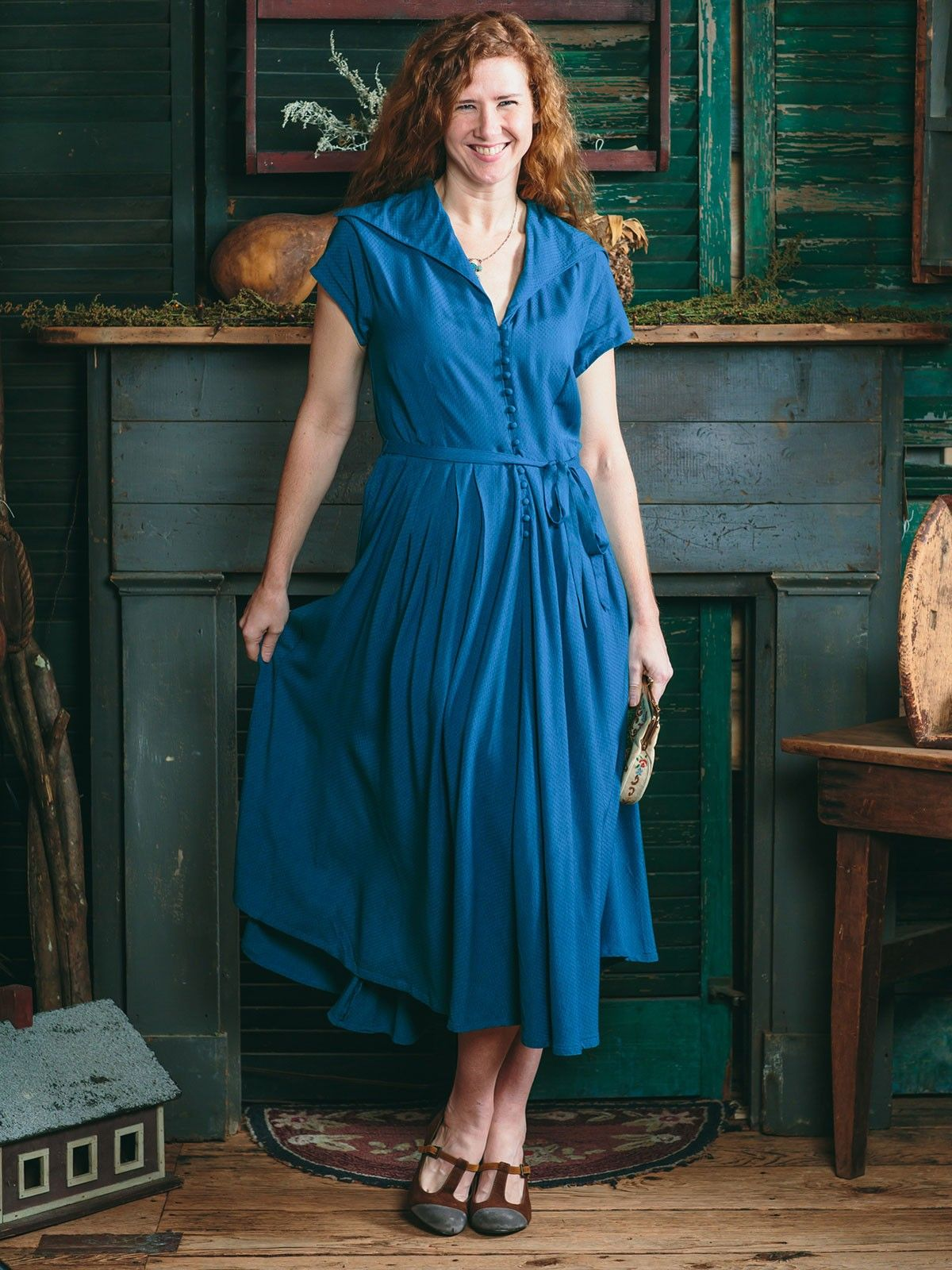 Cecelia Dress In Teal April Cornell Sold Out Dresses Rustic Dresses Clothes [ 1600 x 1200 Pixel ]