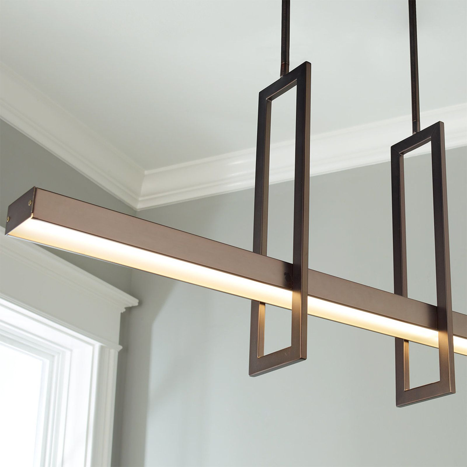 Energy Efficient Modern Balance Beam LED Linear Chandelier