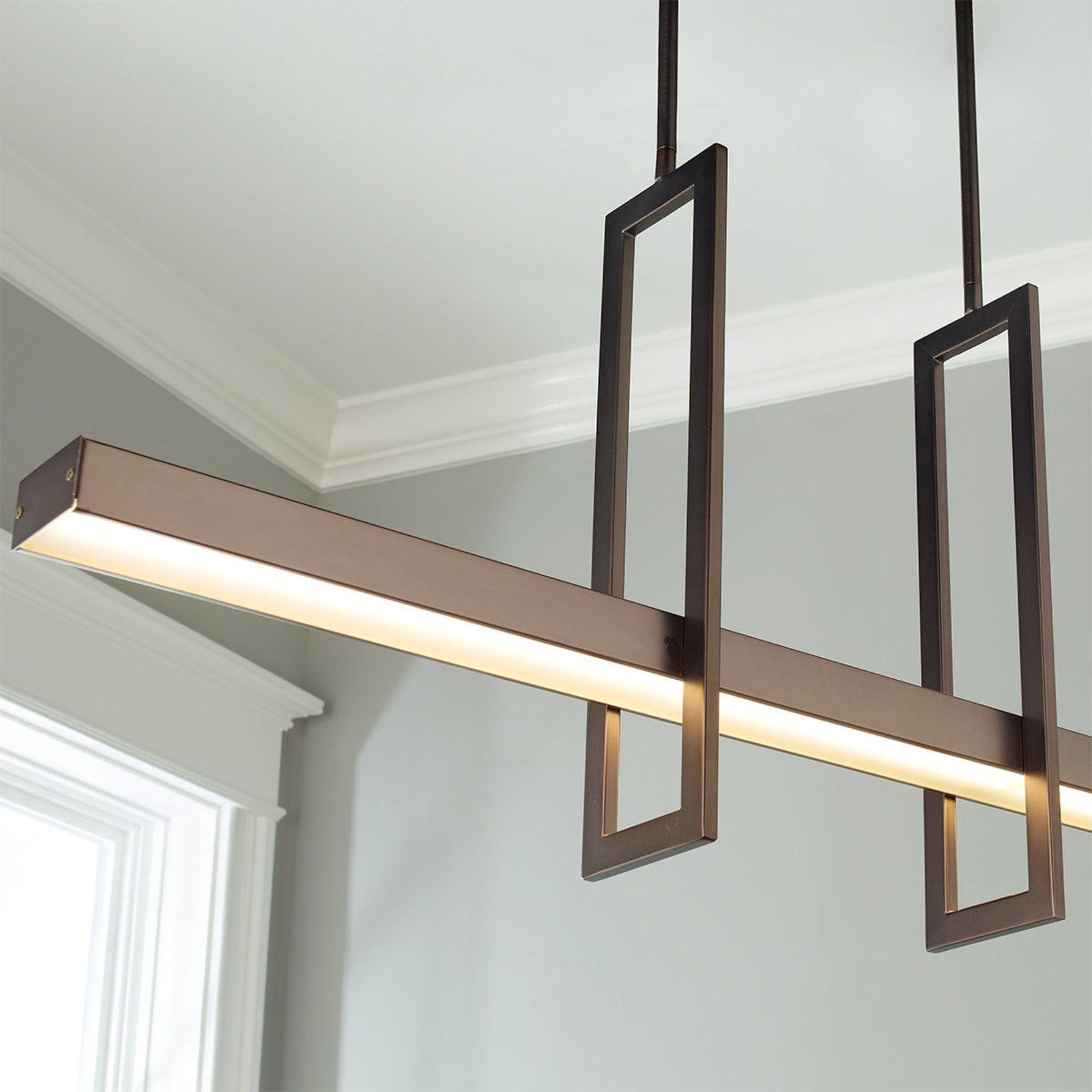 Energy Efficient Modern Balance Beam LED Linear Chandelier ChandelierChandelier ShadesDining Room LightingDining