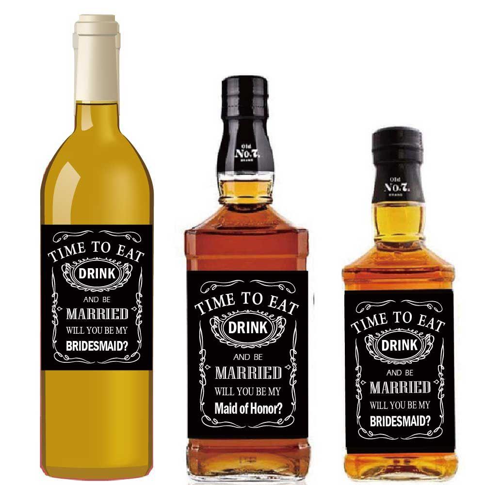 Will You Be My Groomsman Bridesmaid Best Man Maid Of Honor Jack Daniel S