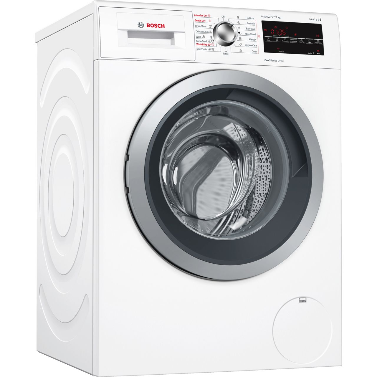 Bosch Serie 6 Wvg30462gb 7kg 4kg Washer Dryer With 1500 Rpm White A Rated Washing Machine Bosch Washing Machine Washer And Dryer