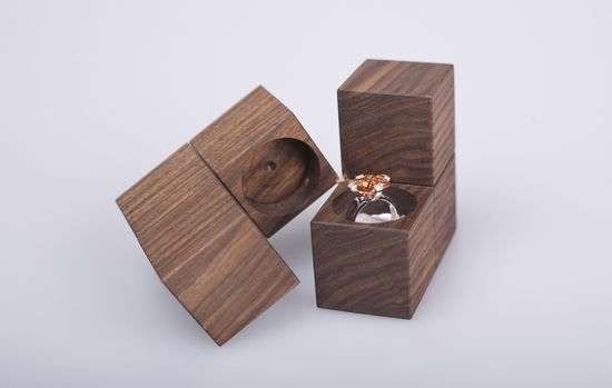 Tetris Ring Boxes Klotz Jewelry Packaging Takes on a Wooden, Game-Like Feel