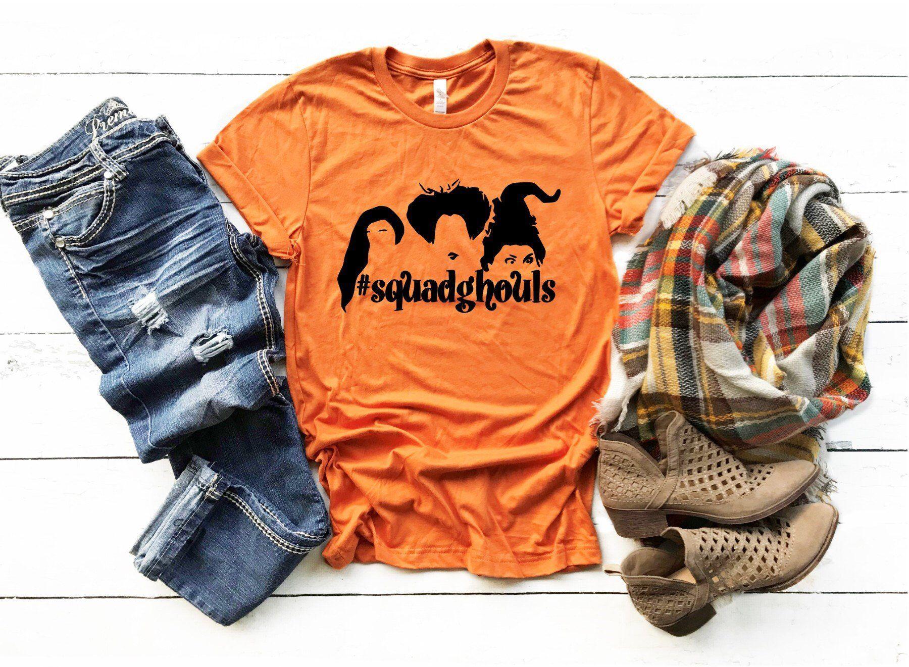 37e794b76 Excited to share this item from my #etsy shop: Halloween Shirt, sanderson  sister shirt, hocus pocus shirt, fall shirt, fall theme, tshirt, burnt  orange ...