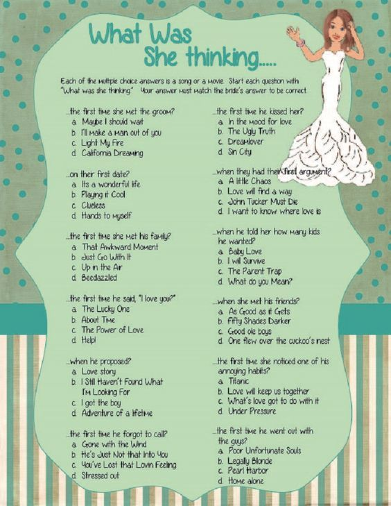 what was she thinking bridal shower game confused bride wedding shower game