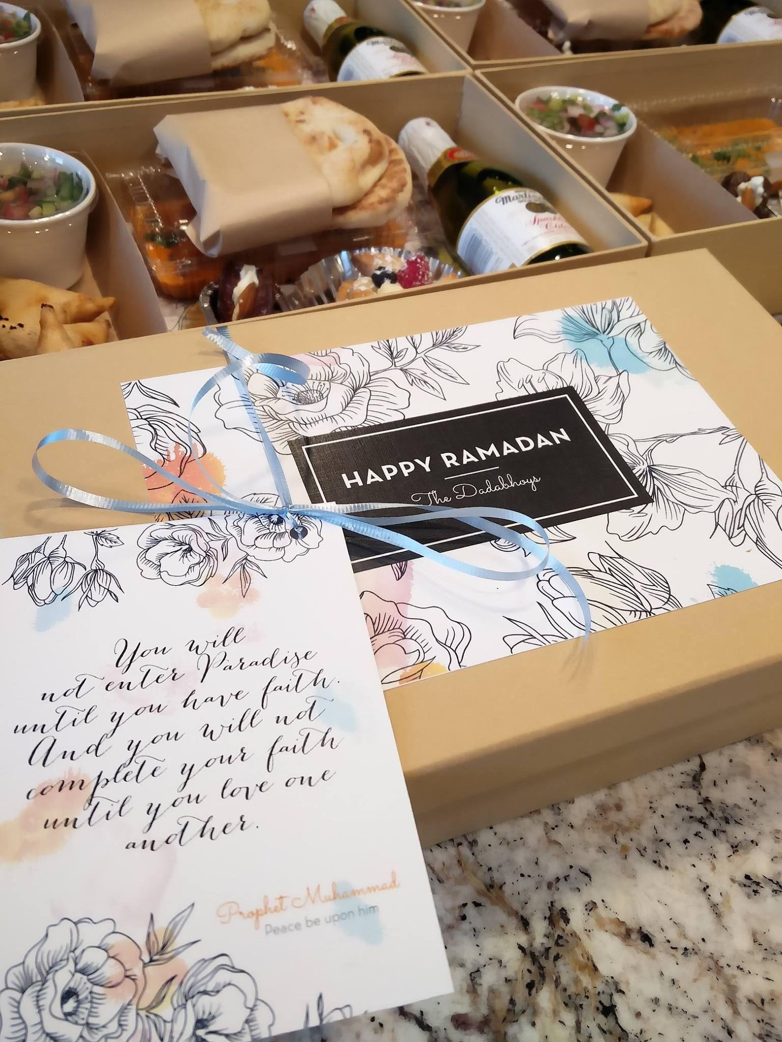Ramadan Iftar Boxes For Neighbors With Images Ramadan Gifts