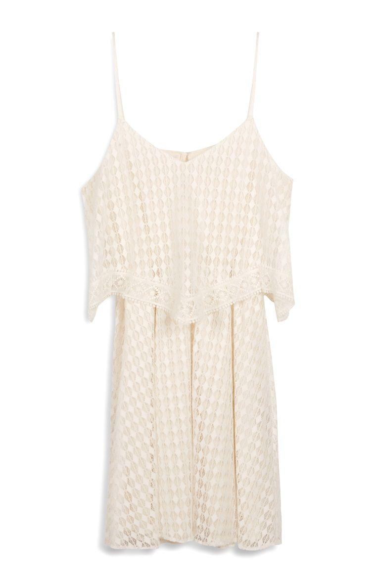 Primark - Weißes Kleid mit Stufensaum und Spitze | weitere kostüme ...