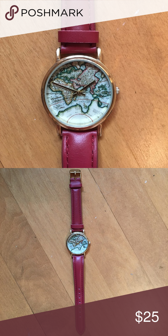 Urban Outfitters World Map Watch.Hp New Urban Outfitters World Map Watch Map Watch Map