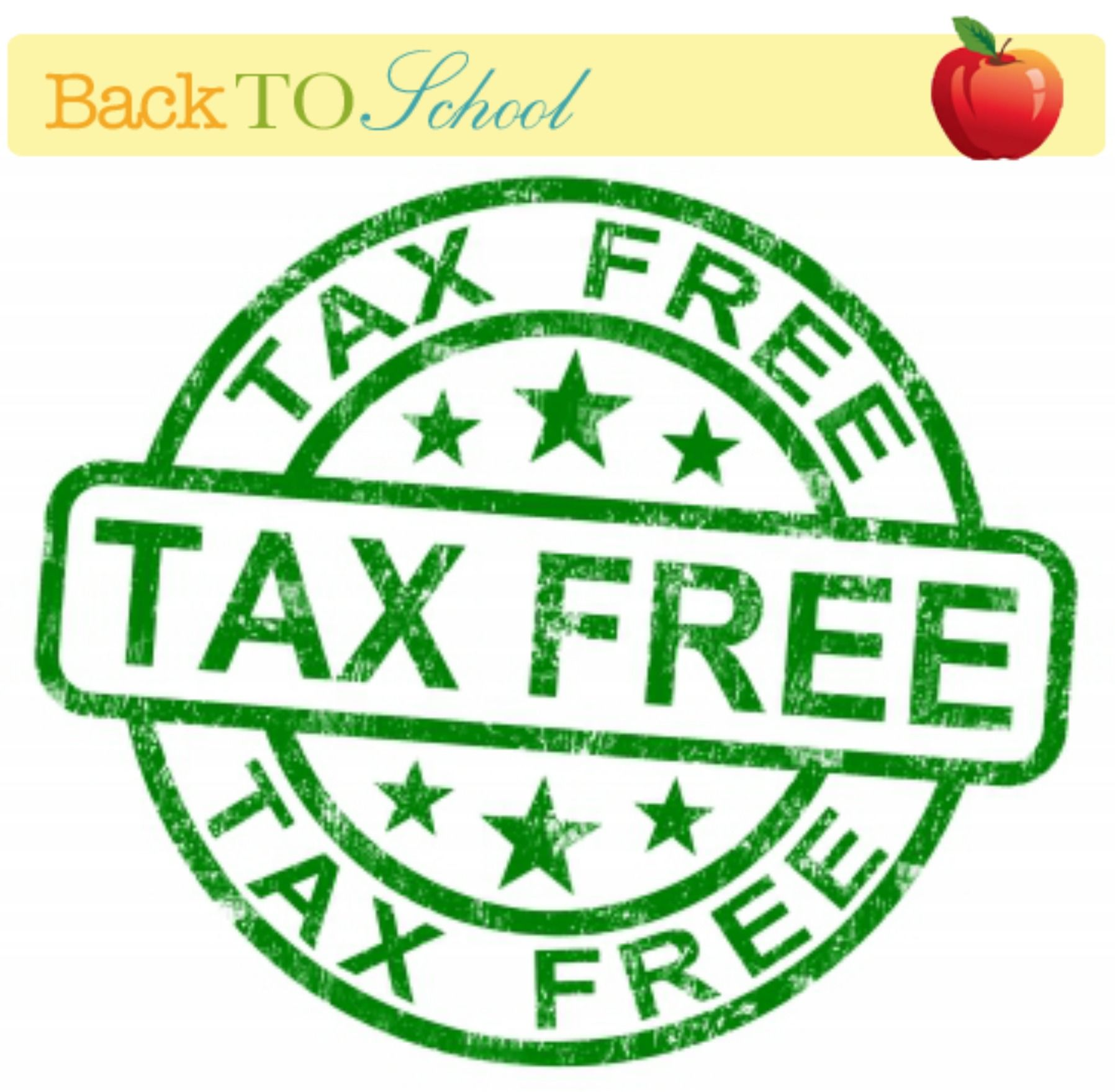 Tax FREE Weekends 2015   Dates Based on States