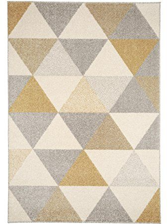 benuta Tappeto moderno Pastel Geomet Giallo 140x200 cm