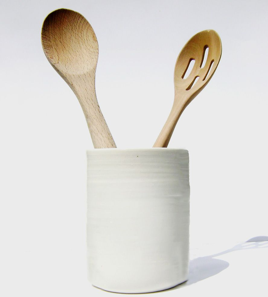 Large Porcelain Utensil Holder | Utensils, Flatware and Kitchen ...