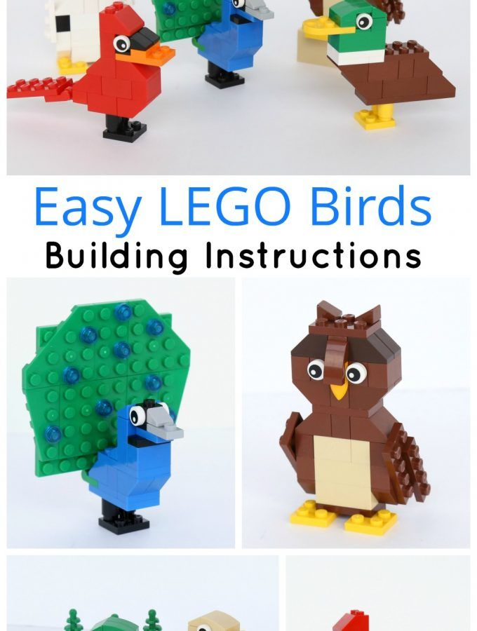 Simple Brick Birds Building Instructions Kid Pinterest Legos