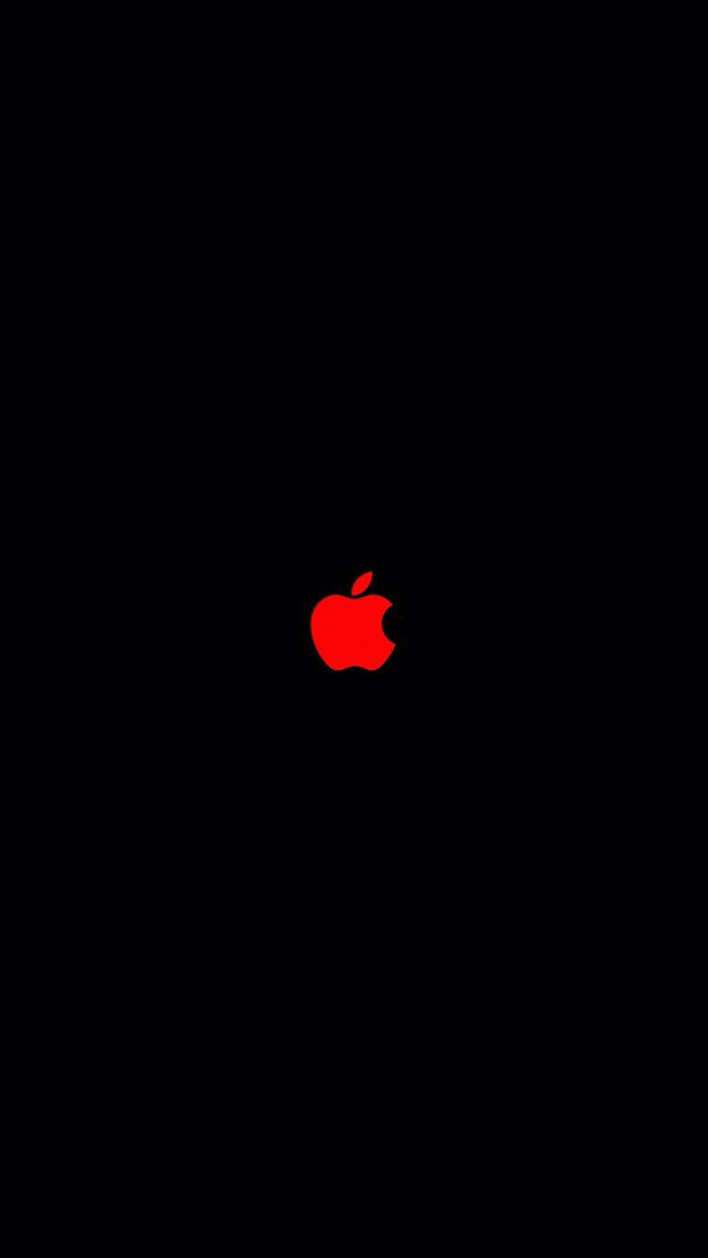 Red Apple Logo Iphone Wallpapers In 2019 Pinterest Iphone