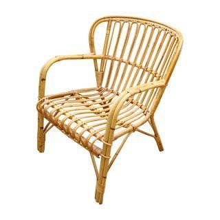 Franco Albini Mid Century Rattan Bentwood Chair