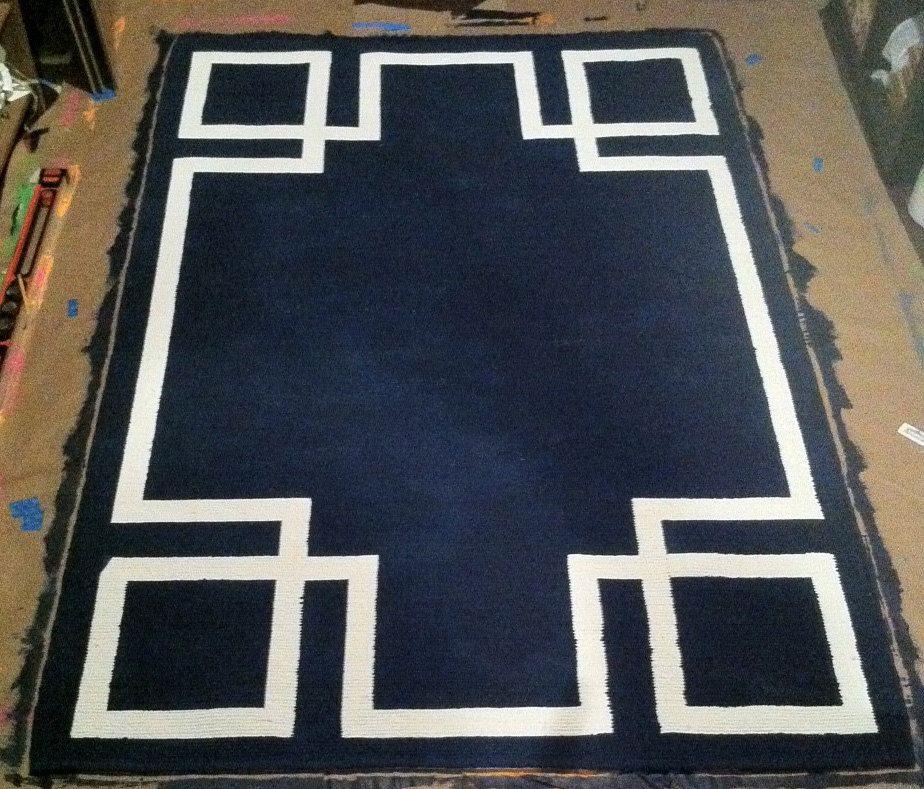 Greek Key Art Deco Rug Navy Blue 5x7 Ready To Ship By Arborroad Art Deco Rugs Art Deco Bedroom Art Deco Furniture