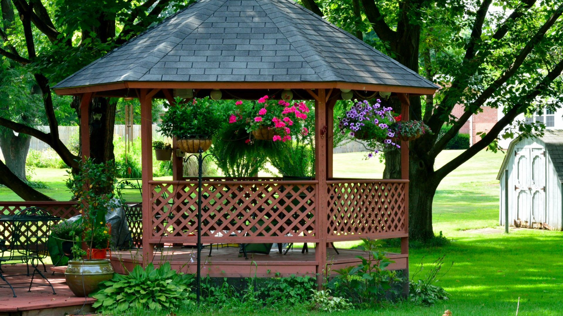 Natbg Com Scenic Summer Gazebo Relaxing Peaceful Beautiful Full