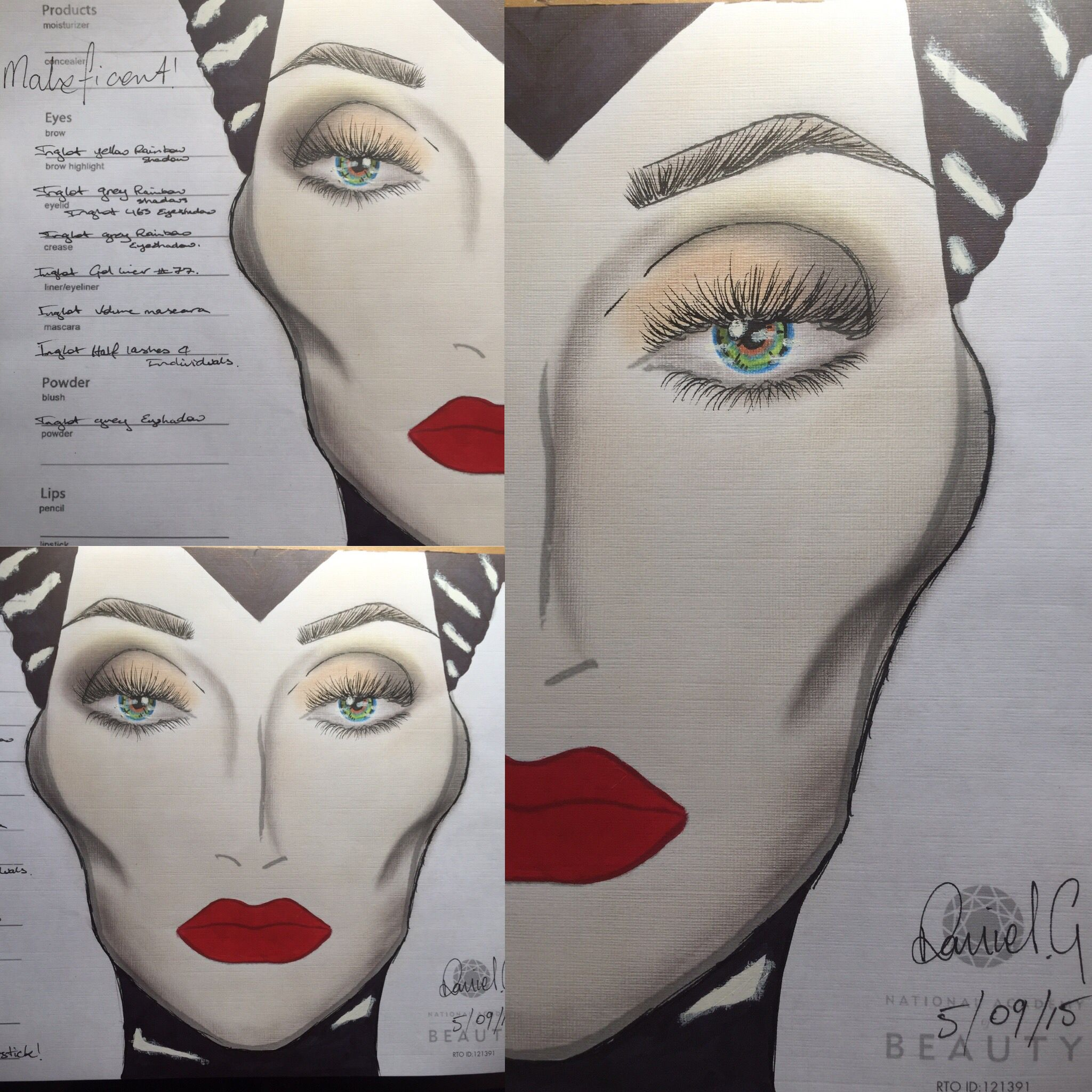 Maleficent FaceChart Mac face charts, Makeup face charts
