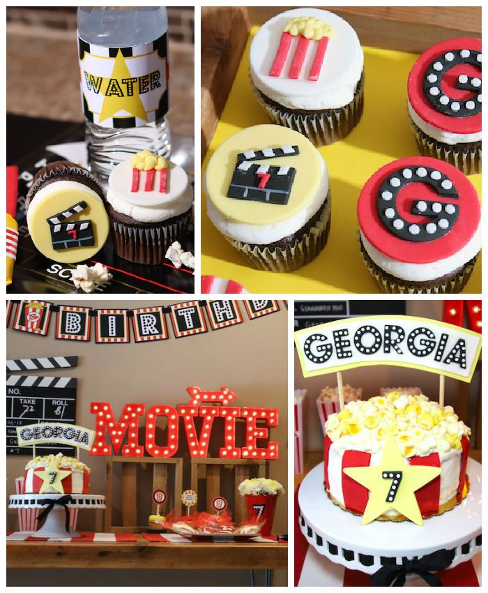 Movie Theatre Birthday Party Movie Theatre Birthday Party Hollywood Birthday Parties Movie Night Birthday Party