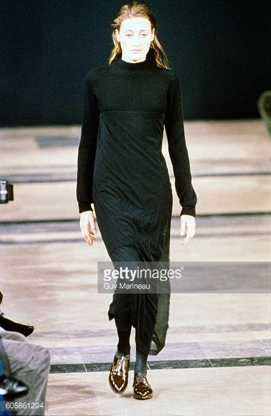 Model walks the Helmut Lang Fall 1989 RTW collection. (Photo byGuy Marineau/Condé Nast via Getty Images)Marie-Sophie Wilson