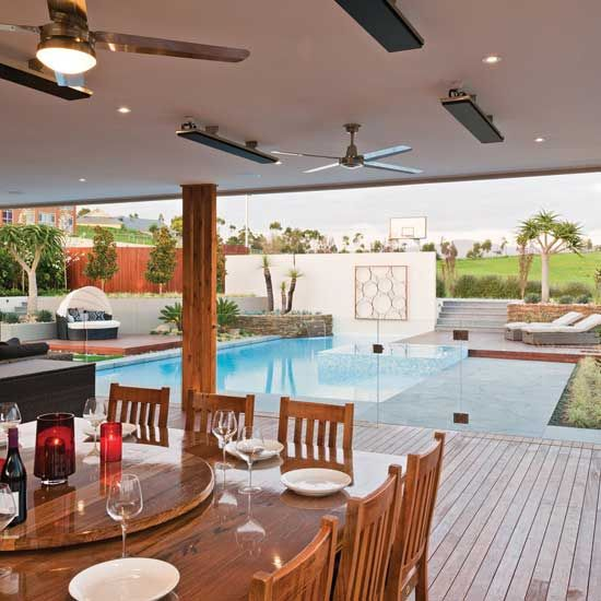 chauffage de terrasse design heatstrip 3200 w int rieur. Black Bedroom Furniture Sets. Home Design Ideas