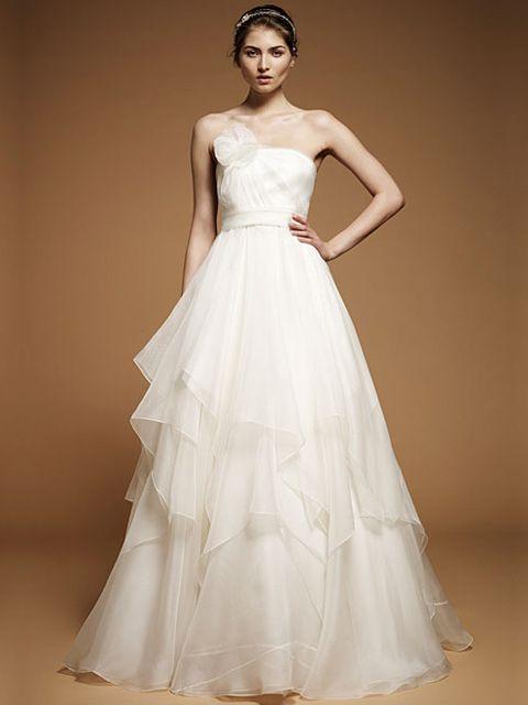 vestido de novia strapless con falda en capas | my style | pinterest