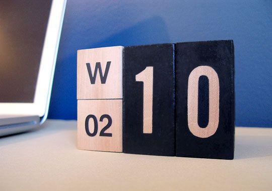 How To Make A Perpetual Desk Calendar  Desk Calendars Desks And