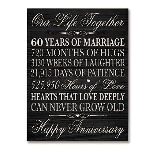 60th Wedding Anniversary Wall Plaque Gifts For Couple 60th Anniversary Gifts 45th Wedding Anniversary Gifts 60th Anniversary Gifts 10th Anniversary Gifts