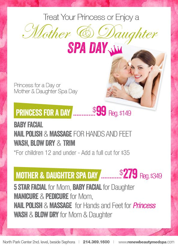 Treat Your Princes Or Enjoy A Mother  Daughter Spa Day  Anti