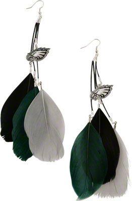 Philadelphia Eagles Fan Feather Earrings Eagles Jacket c80d1aa4f