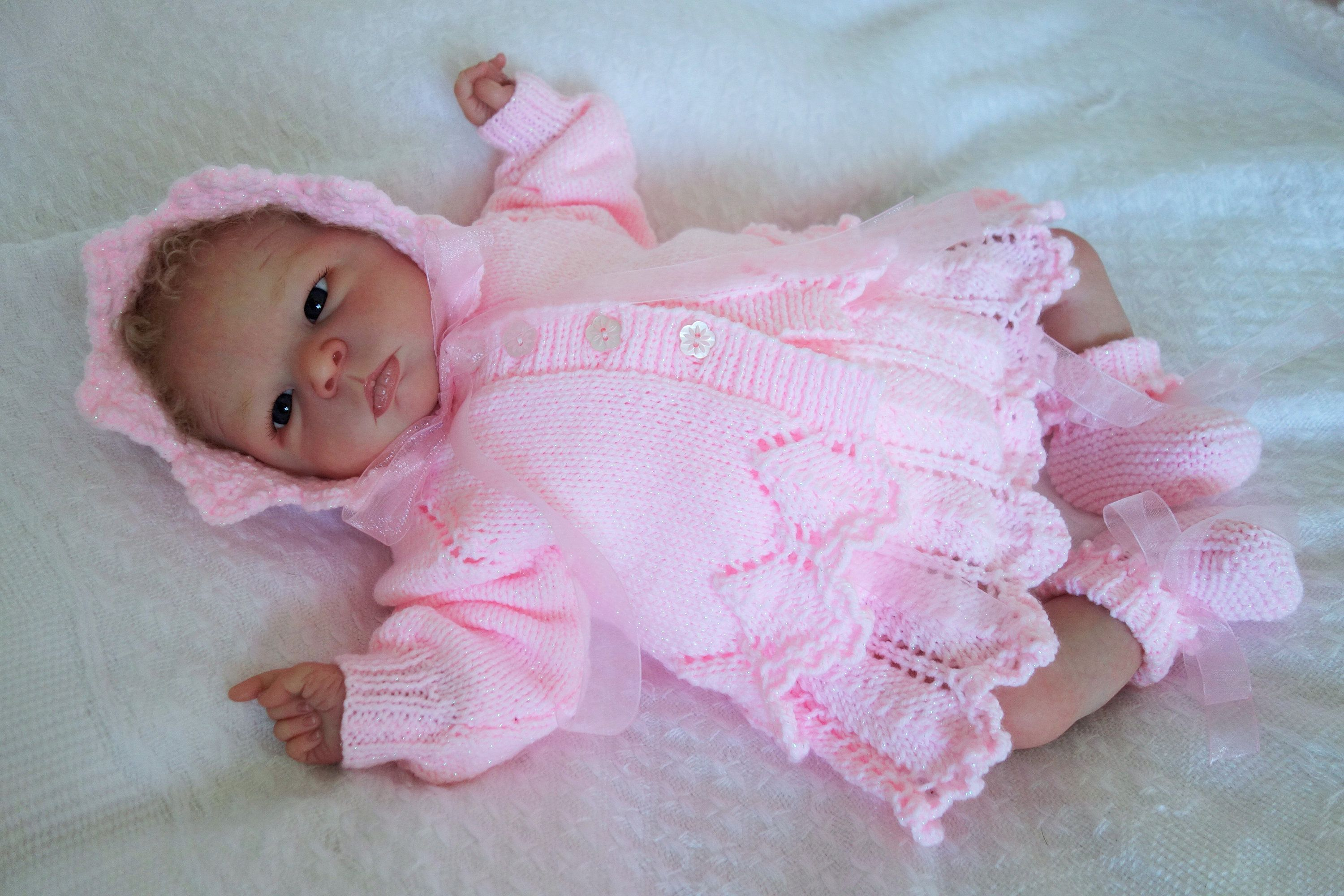 bb1f2e67092f Hand knitted baby dress