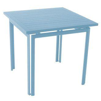 Table de jardin carrée Aluminium 80x80cm COSTA Fermob Bleu Fjord ...