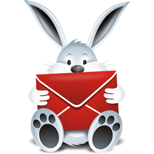 """""""Mail Bunny Icon"""", comes in 32x32, 64x64, 128x128, 256x256"""