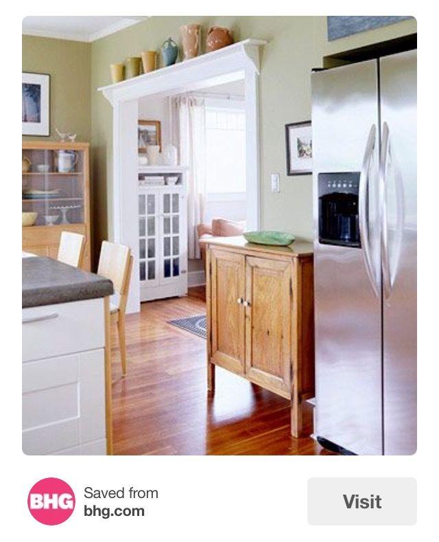 Shelf W Corbels Above Kitchen Entryway Craftsman Style Kitchen