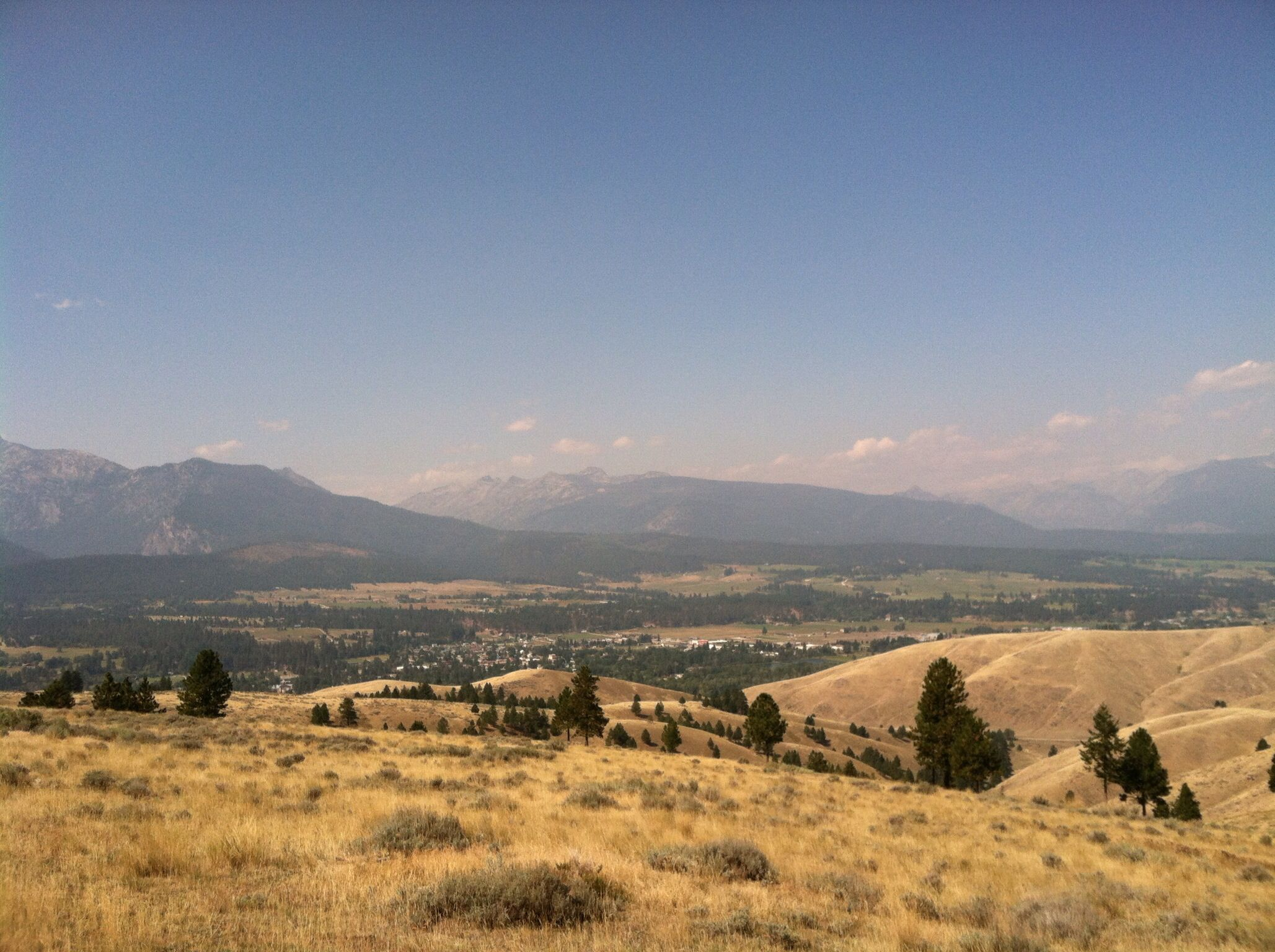 Horseback ride, view of Darby, MT