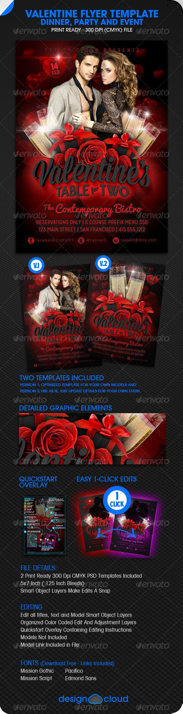 Valentine Dinner Party And Event Flyer  Event Flyers Flyer