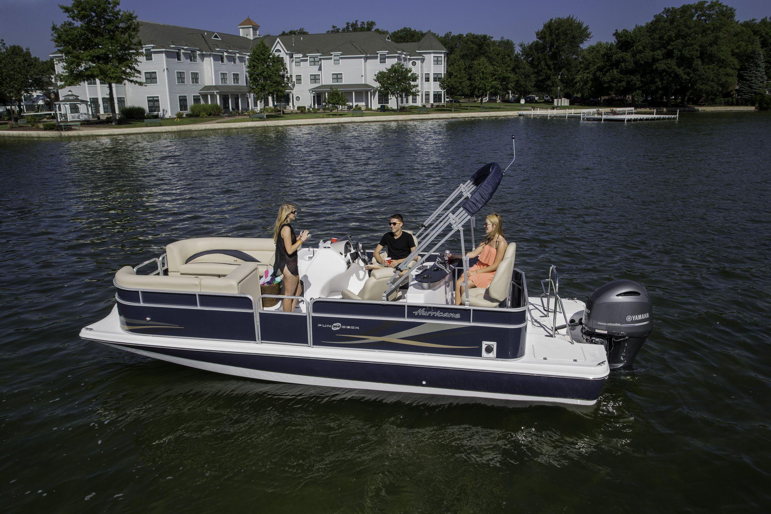 Pin By Hurricane Boats On Hurricane Fundeck Models Cool Boats Hurricane Boats Family Boats