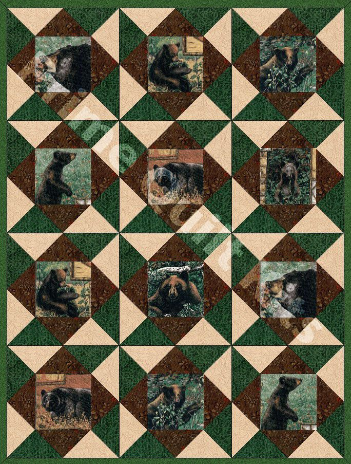 Bear Country Pre-Cut Quilt Kit | wildlife quilts | Pinterest ... : country quilts and bears - Adamdwight.com