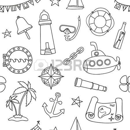 Seamless nautische Muster Grafik Design Elemente f r printables ...