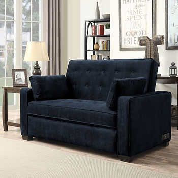 Westport Fabric Sleeper Sofa Navy Blue With Images Loveseat Sleeper Quality Living Room Furniture Love Seat