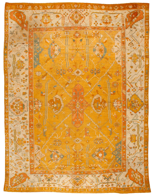 Antique oushak carpeta carpet pinterest vignettes