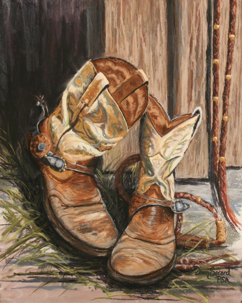 Pin By Carol Vincent On Tattered Boots Shoes Cowboy Art Art Cowboy