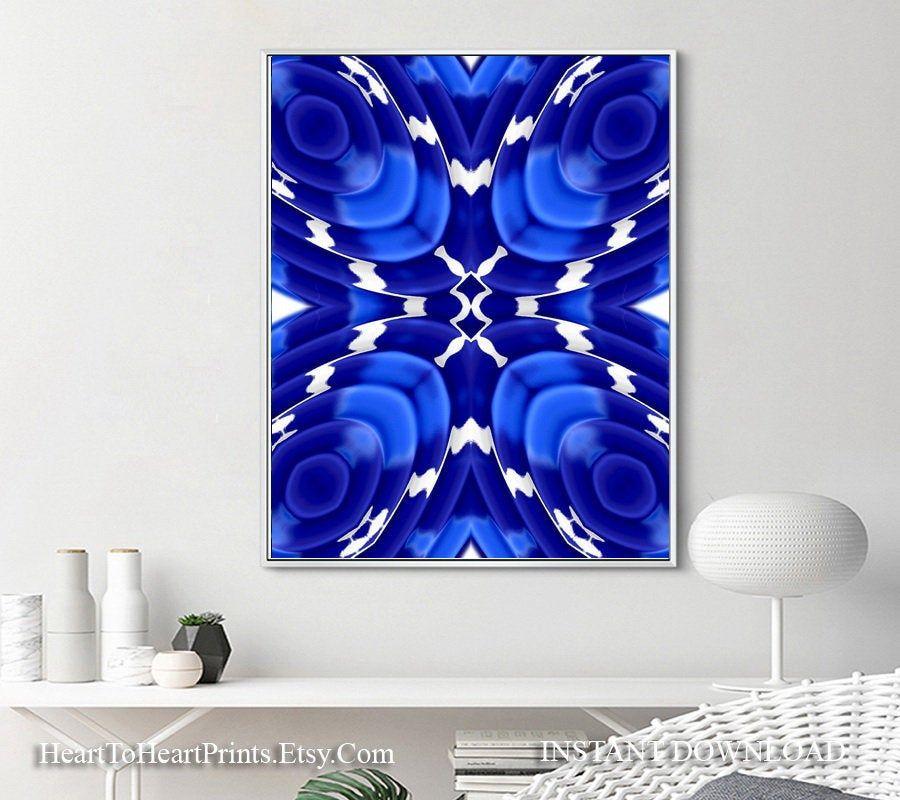 Royal Blue Abstract Art Navy Blue Artwork Poster Modern Blue Wall Art Download Blue Office Living Room Dec Modern Blue Wall Art Blue Abstract Art Blue Wall Art