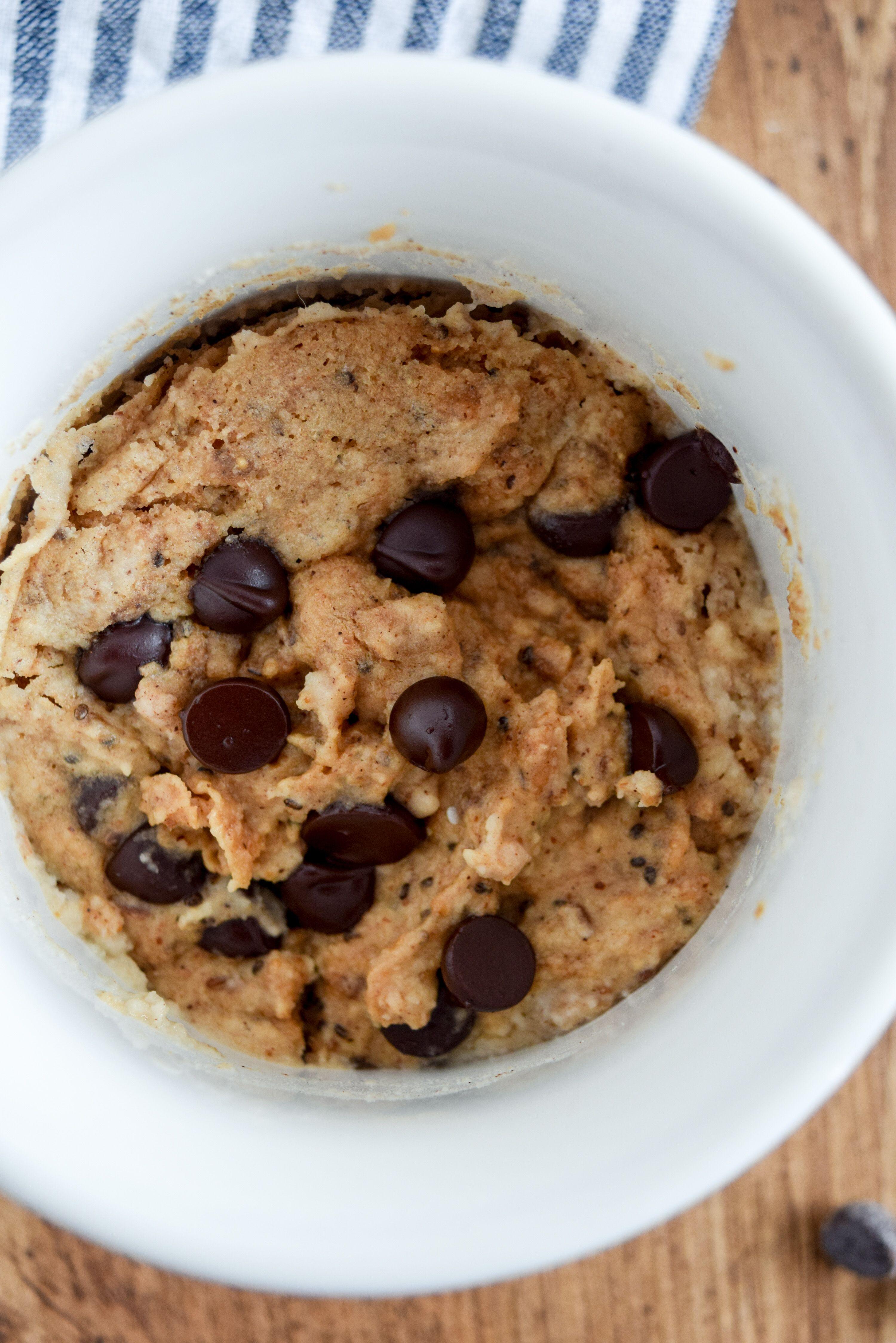 6ingredient almond butter chocolate chip mug cake dairy