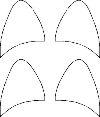 template for pig ears - orejas de gato para imprimir y recortar todo halloween