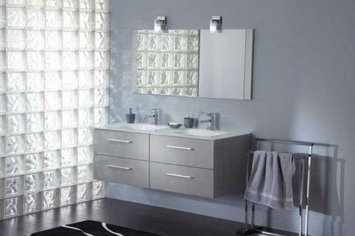 Bagno Vetromattone ~ Bagno grigio e argento ~ mattsole.com